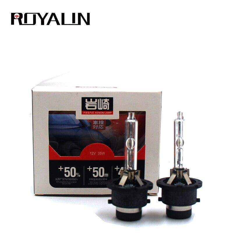 ROYALIN ксеноновая HID лампа для YEAKY 12V 35w, одиночный светильник, автомобильный Стайлинг, H1 D2S, головной светильник, лампы 5500K белого цвета для Авто