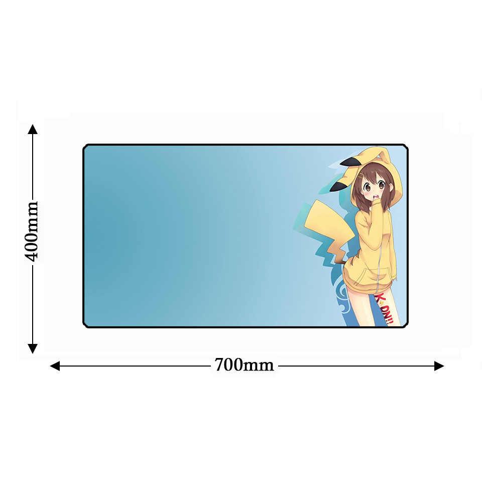 Блокировка резиновая прокладка противоскользящие настольные коврики геймера сексуальный аниме большой компьютерный коврик для мыши и клавиатура игровой планшет ПК коврик для мыши, сделанный на заказ