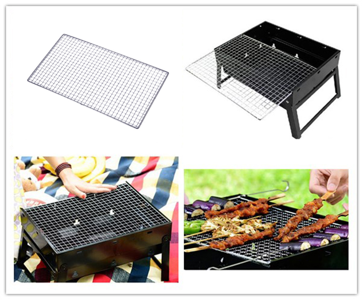 Barbecue Round BBQ Grill Grid Replacement Stainless Steel Wire Net Cooking Nice