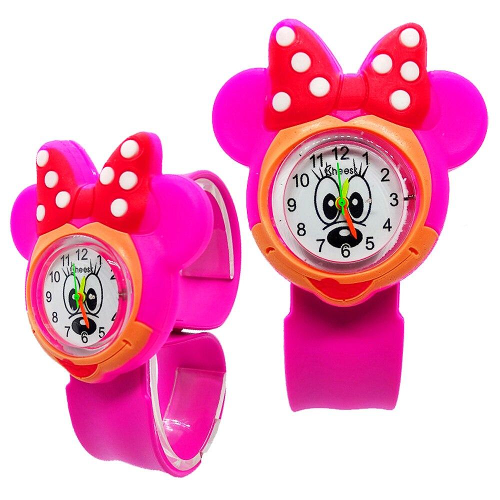 High Quality Minnie Watch Children Girls Boys Bracelet Gift Student Clock Kids Watches Silicone Tape Patted Wrist Children Watch