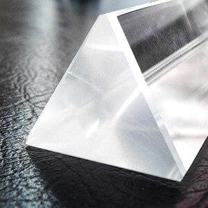 Image 4 - 25x25x80mm Triangular Prism BK7 Optical Prisms Glass Physics Teaching Refracted Light Spectrum Rainbow Children Students Present