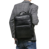 Genuine leather cow skin outdoor casual backpack large capacity men bags