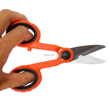 High Quality Fiber Optic Kevlar Cutter Scissors Kevlar aramid fiber For sharp scissors, scissors jumper wire pigtail FTTH Tools