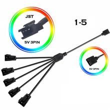 Placa-mãe rgb aura cabo adaptador, sincronização jst sm JST-3P sm3p el cabo adaptador macho/fêmea