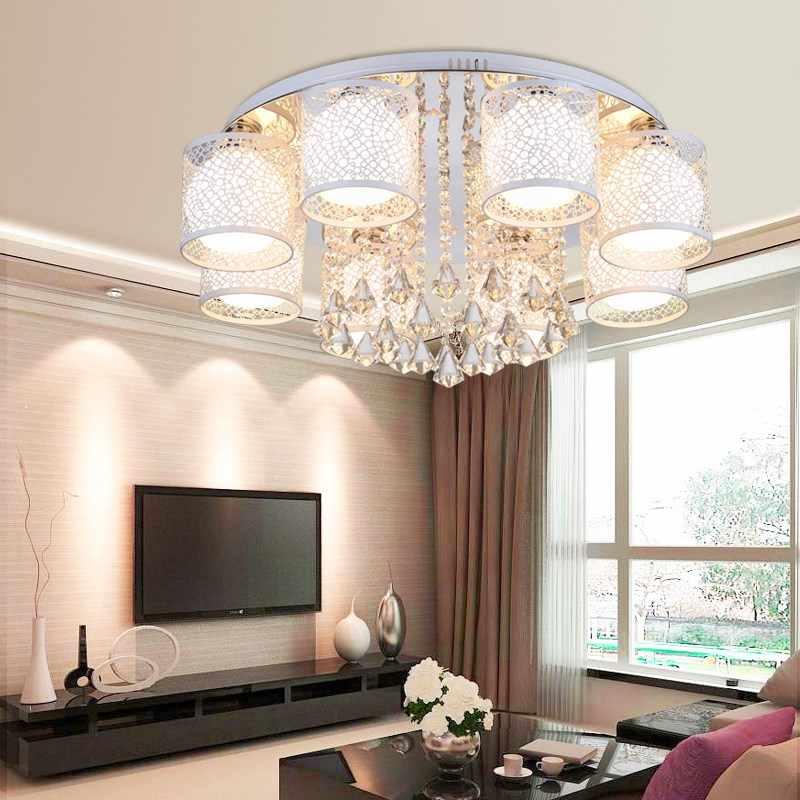 โมเดิร์นยุโรปสไตล์เพดานคริสตัล E27 Plafonnier LED lustreceiling โคมไฟสำหรับห้องนั่งเล่นห้องนอนร้านอาหาร Bar Hotel