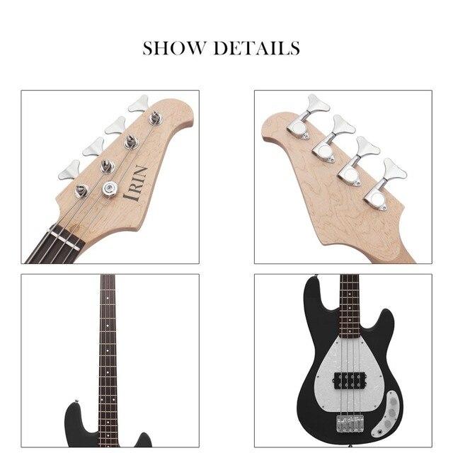 IRIN Electric Guitar 4 String Iron Pewter Electric Bass 4