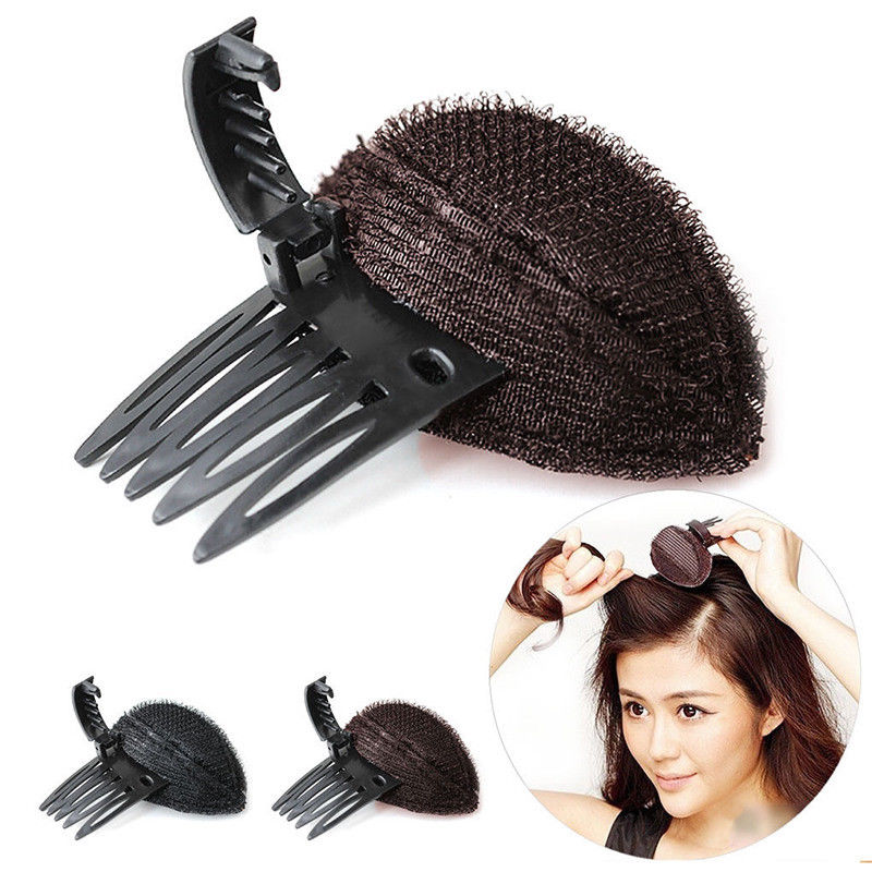 1pcs Hot Sale Large Size Forehead Hair Volume Fluffy Sponge Clip Hair Comb Professional Women Makeup Comb Hair Styling Tool