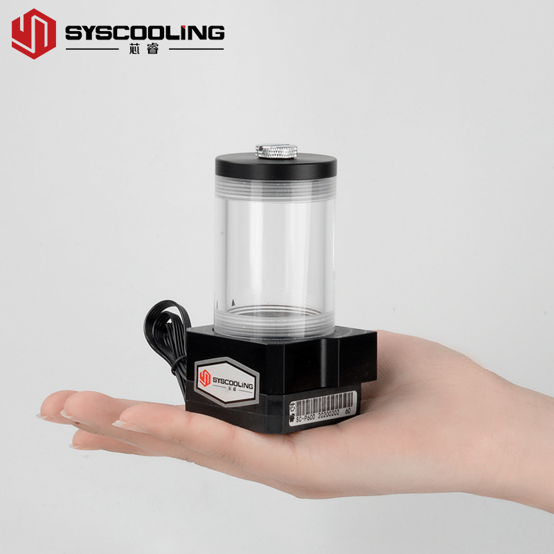 Syscooling High Performance P60D Computer Water Cooling Pump With Water Tank