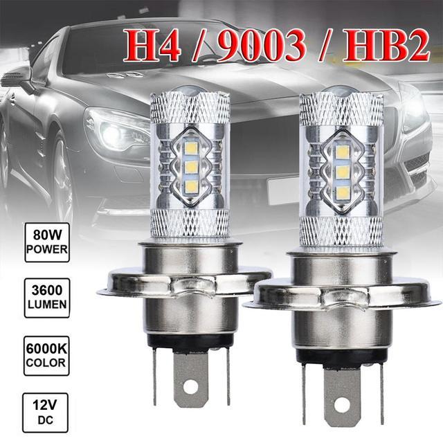 Фото 2 шт автомобисветодиодный светодиодные ламсветильник h4 9003 цена