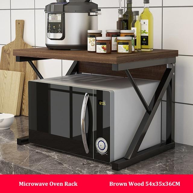 المطبخ فرن الميكروويف رف متعددة الاستخدام المنزل حامل رف للتخزين 2 tier طاولة مطبخ الرف المنظم المائدة الفضاء التوقف