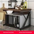 Keuken Magnetron Rack Multi-gebruik Thuis Opslag Plank Rack 2-Tiers Keuken Teller Plank Organisator Servies Ruimte saver
