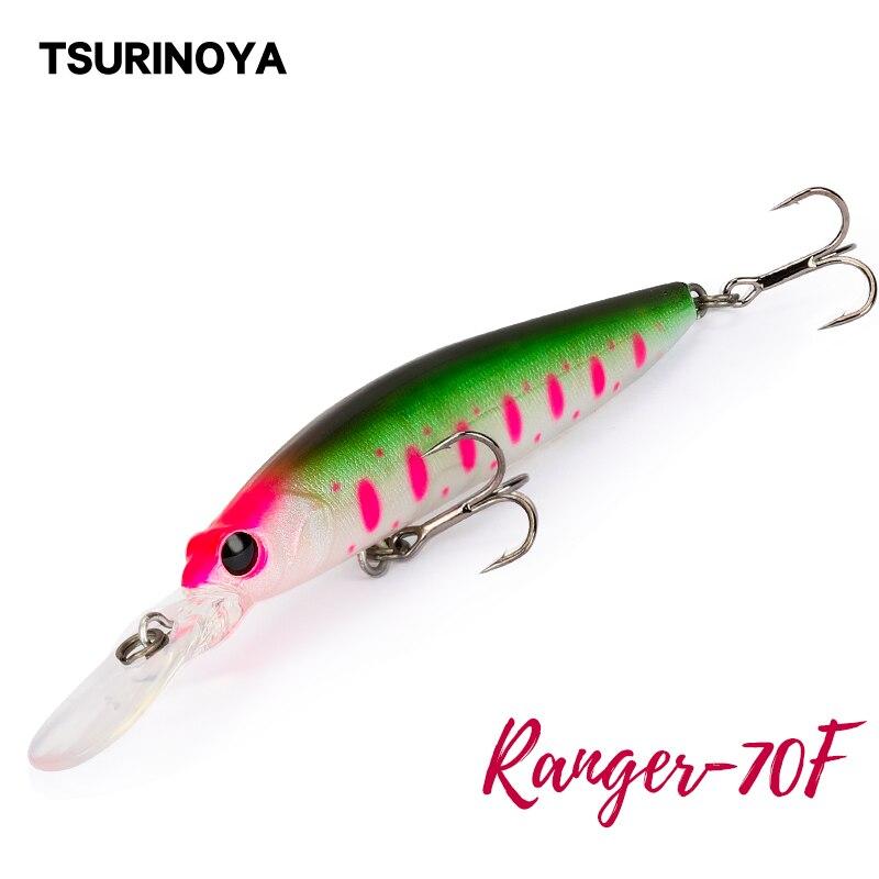 TSURINOYA Floating Minnow DW68 70F Fishing Lure 70mm 5.2g Ranger Profession Hard Lure Jerkbait Crankbaits Swimbait Wobblers Bait