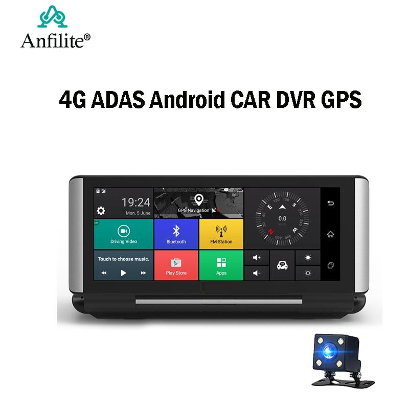 Car-Dvr-Camera Navigation Dash-Cam Dual-Lens ADAS Android 1080P 7inch FHD GPS 4G Anfilite