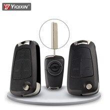 Yiqixin virar dobrável remoto caso capa chave do carro escudo para opel astra h corsa d vectra b c mokka g zafira vectra signum
