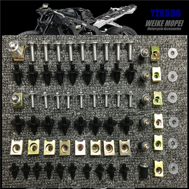 CNC Fairing Bolt <font><b>Kit</b></font> <font><b>Body</b></font> Screws plastic Expansion screw Clips Fit For <font><b>Yamaha</b></font> YZR500 YZF-R7 <font><b>R6</b></font> R3 R25 R15 YZF R1 image