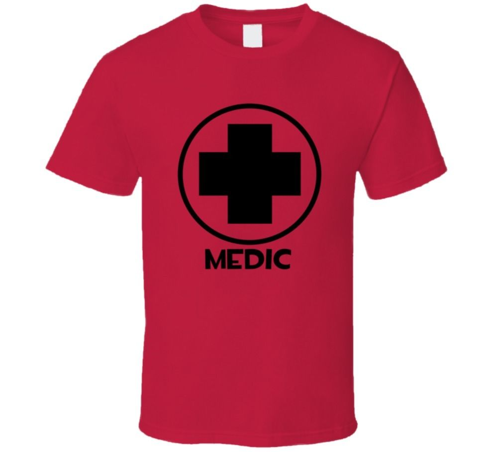 <font><b>Team</b></font> <font><b>Fortress</b></font> <font><b>2</b></font> Medic Red <font><b>Team</b></font> Video Game Fan T <font><b>Shirt</b></font> Cool Casual pride t <font><b>shirt</b></font> men Unisex Fashion tshirt free shipping funny image