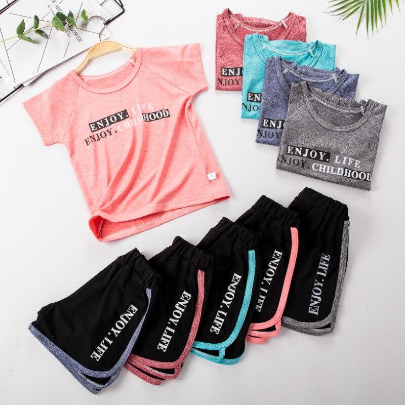 Летние комплекты одежды для детей 2020, Быстросохнущий костюм, спортивные комплекты для мальчиков, футболки и шорты для девочек, 2 шт./компл., одежда для малышей|Комплекты одежды| | АлиЭкспресс