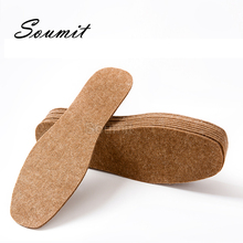 Thermal-Insoles Sport-Shoes Wool-Felt-Insert Pads Cushion Thicken Breathable Soft Foot-Keep-Warm