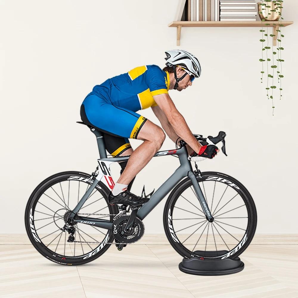 Rita665Jimmy Front Wheel Riser Black Plastic Front Wheel Trainer Cycling Front Wheel Riser Block Stabilize Bike Turbo Support for Indoor Bike Trainer Stationary Bikes
