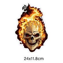 Etiquetas coloridas engraçadas personalizadas do carro do crânio do fogo do pvc, etiquetas engraçadas do carro, decalques do carro e da motocicleta ZWW-0134, 16cmcm * 10.8cm