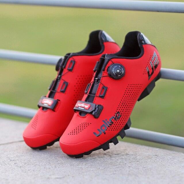 Tênis ultra-leve para ciclismo mtb, calçado feminino e masculino para mountain bike, autotravamento, respirável, frete grátis sapatos com calçados 5