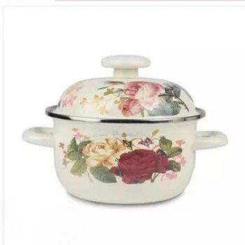 Olla de sopa olla de estofado olla de esmalte Persimmon olla de sopa olla de Gas estufa de cocina Universal olla de cocina de cerámica caliente bote de sopa