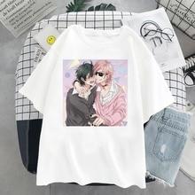 Yarichin Bitch-bu Club Graphic Print Women Harajuku Aesthetic Top Japan Anime Casual Female Clothing Summer Elegant Blouse Femme