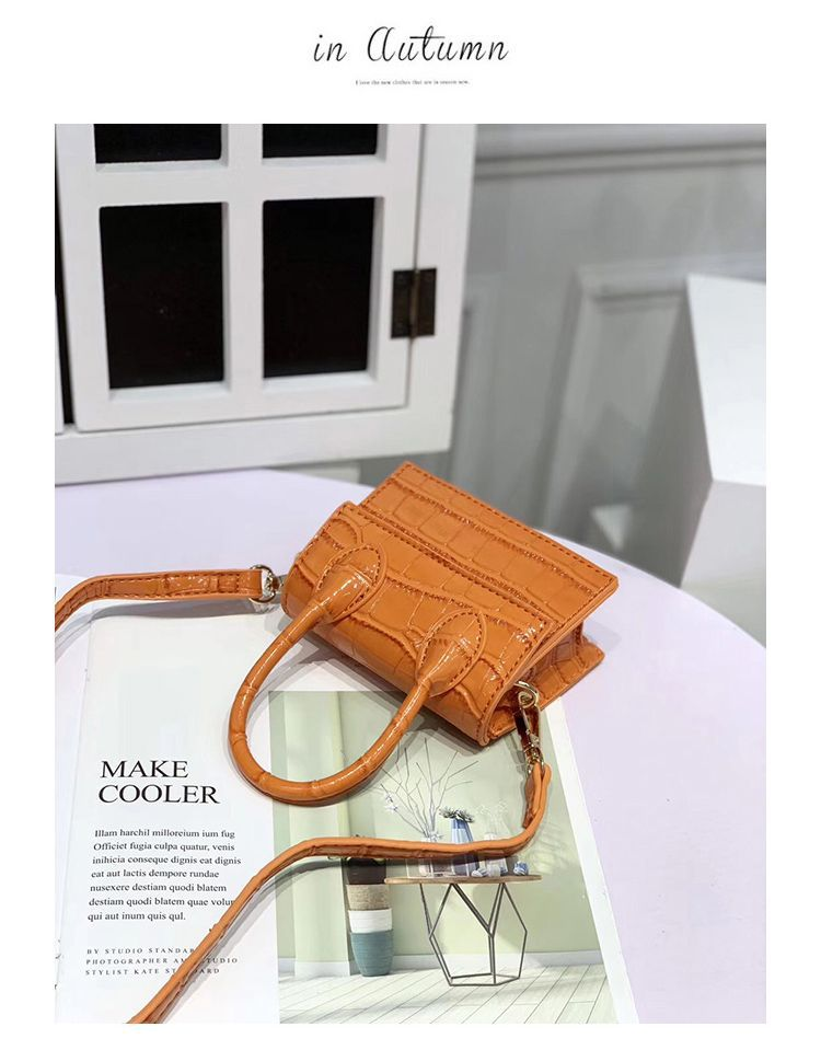 Hf0ef19e70b0b4775b311de10a669eb6b6 - Mini Small Square bag Fashion New Quality PU Leather Women's Handbag Crocodile pattern Chain Shoulder Messenger Bags