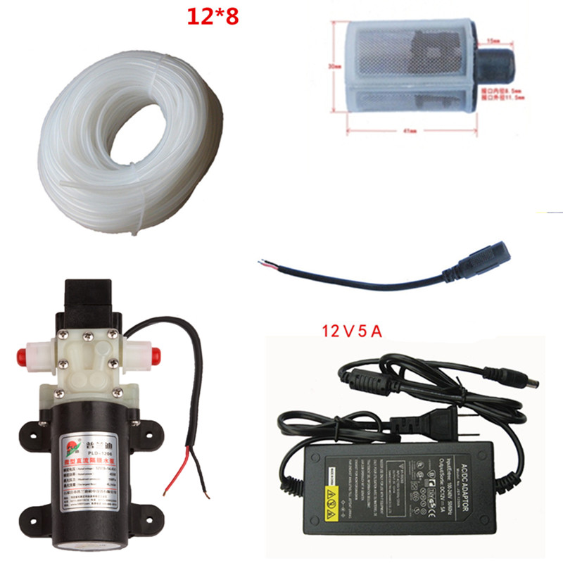 DC 12 volt 45W 4L/min small Automatic pressure switch 12 v water pump image