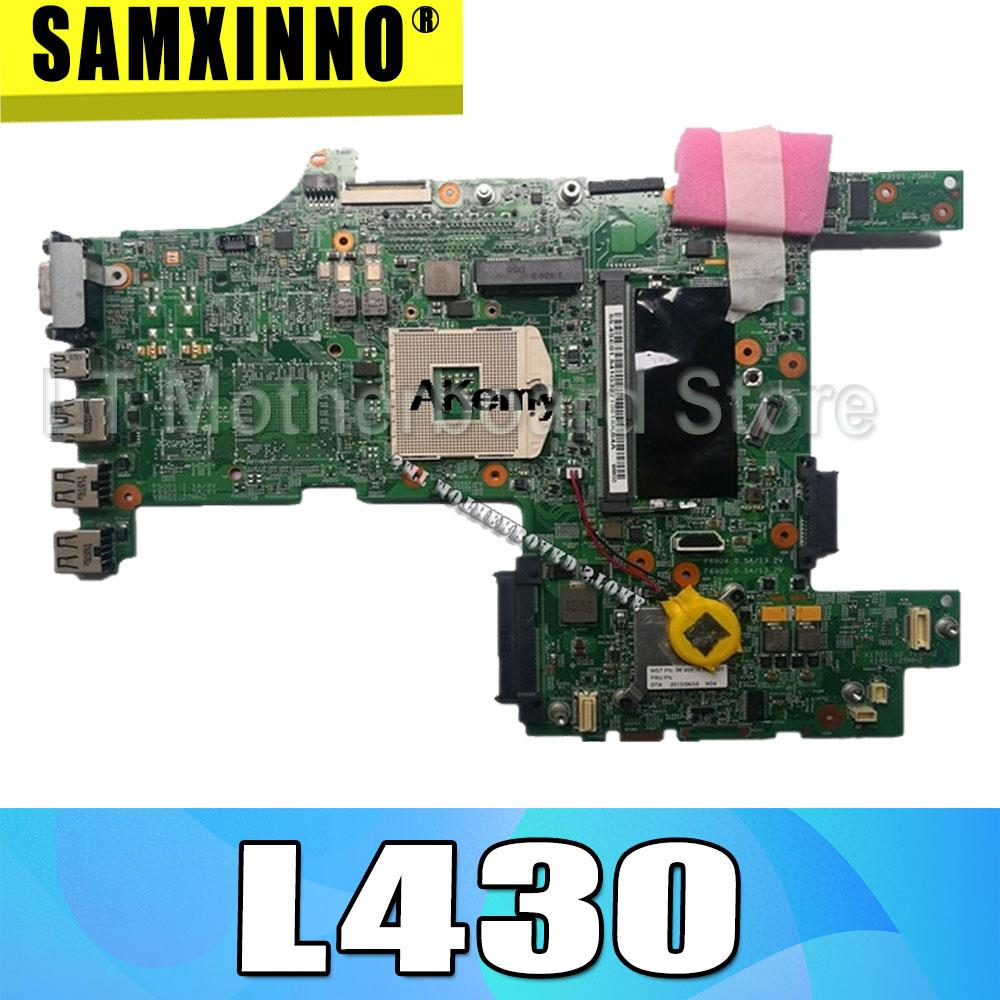 04W6671 Genuine for Lenovo ThinkPad L430 Laptop Motherboard system board DDR3 GMA HD no video card Motherboards     - title=