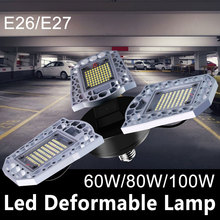 E26 LED Bulb 60W LED Lamp E27 220V LED High Bay Light 80W Garage Light 100W Waterproof Deformable Lamp 110V Warehouse Lighting bes quality 3years warranty high brightness meanwell headlight warehouse factory led high bay highbay 80w 100w 120w 150w