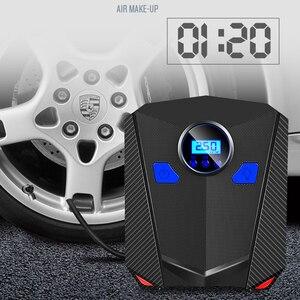 Image 2 - New Digital Tire Inflator Pump DC 12 Volt Car Portable Air Compressor Pump 150 PSI Auto Aire Pump for Car Motorcycle LED Light