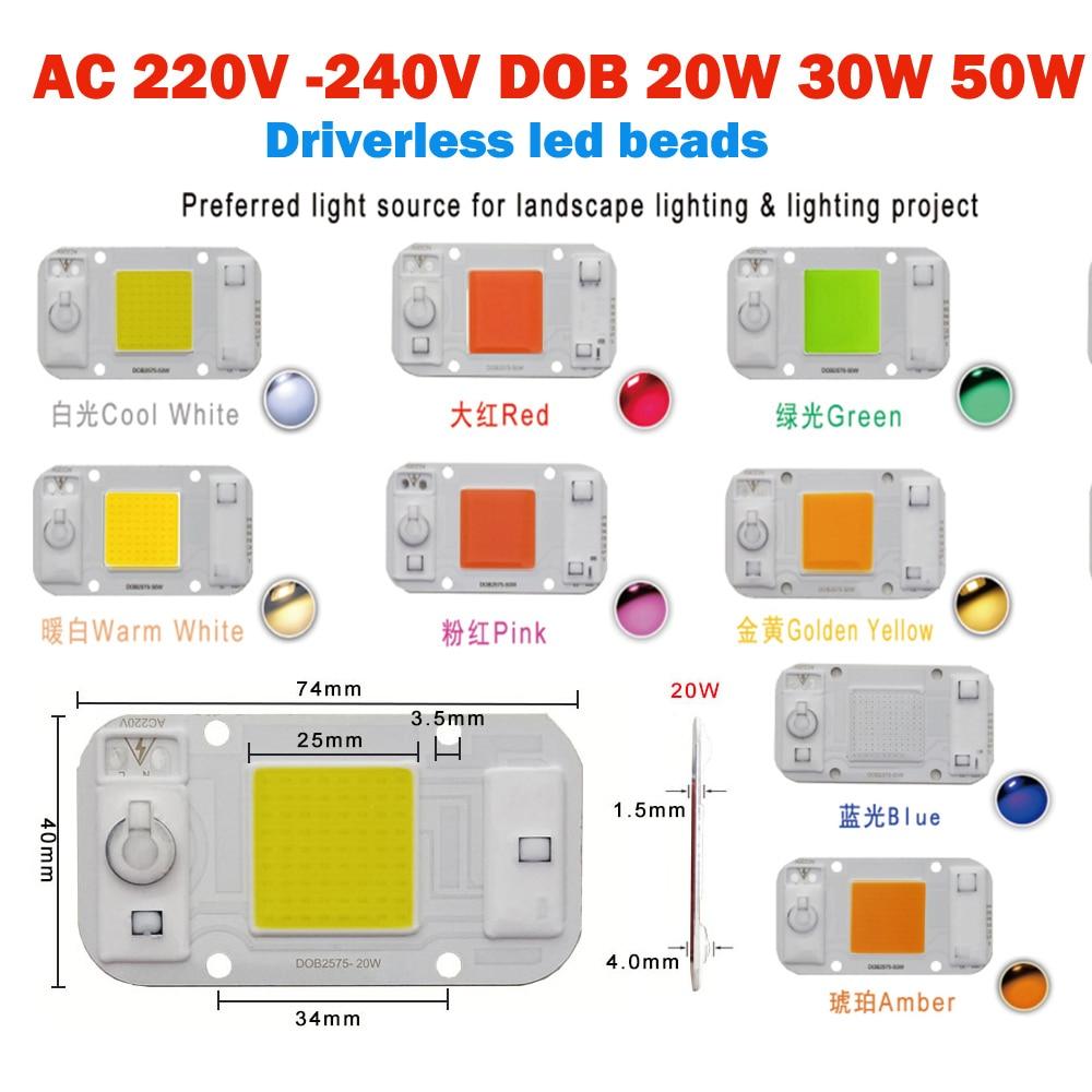 HANGYUE AC220V LED Driverless DOB 20W 30W 50W DIY Module Chipsi Smart IC Driverless Fit For DIY Flood Light LED Spotlight