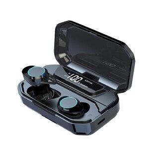 Image 1 - G02 TWS Bluetooth אוזניות 5.0 אלחוטי Bluetooth אוזניות 9D סטריאו מוסיקה אוזניות מגע בקרת LED תצוגת 3300mAh כוח בנק