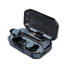 G02 TWS Bluetooth Earphone 5.0 Wireless Bluetooth Earbuds 9D Stereo Music Headset Touch Control LED Display 3300mAh Power Bank