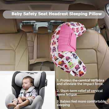 VODOOL Baby Pillow Car Seat Safety Belt Cover Kids Child Protection Auto Seat Belt Shoulder Cushion Pad Head Neck Support Pillow image