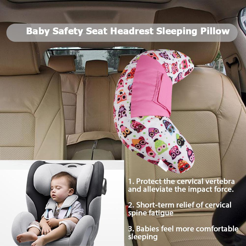 Hot Car Seat Child Pad Strap Harness Sleep Pad Protection Covers Cushion Pillow