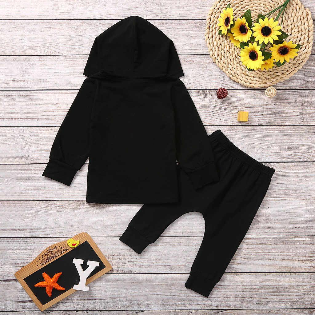 Camiseta con capucha y letras para niños pequeños y bebés + Pantalones de camuflaje conjunto de ropa de alta calidad para niños