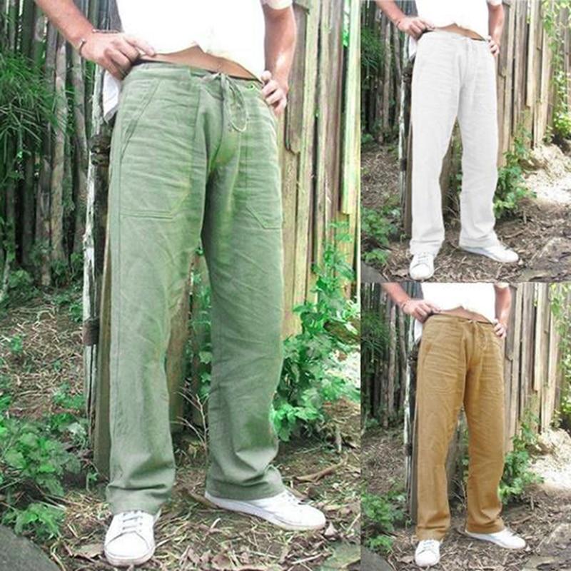 Men Pants 2019 Fashion Cotton Loose Trouser Pants Casual Stylish Straight Long Trouser Pantalon Homme 2XL