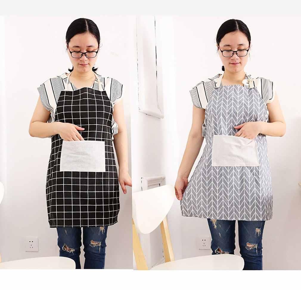 2018 NEUE Japanische baumwolle und leinen schürze öl-proof kochen taille home küche erwachsene damen mode ärmelloses kleid