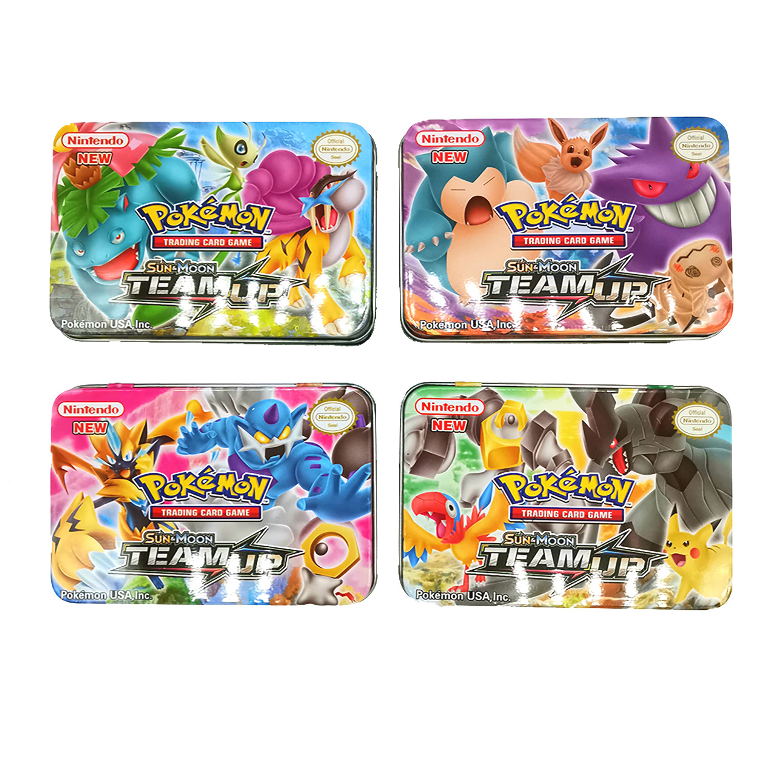 42pcs/set Pokemon Iron Box TAKARA TOMY Battle Toys Hobbies Hobby Collectibles Game Collection Anime Cards For Children