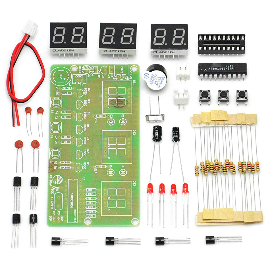 6 Bits Digital LED Electronic Clock DIY Kits PCB Soldering Practice Learning Board AT89C2051 FR-4 for Arduino