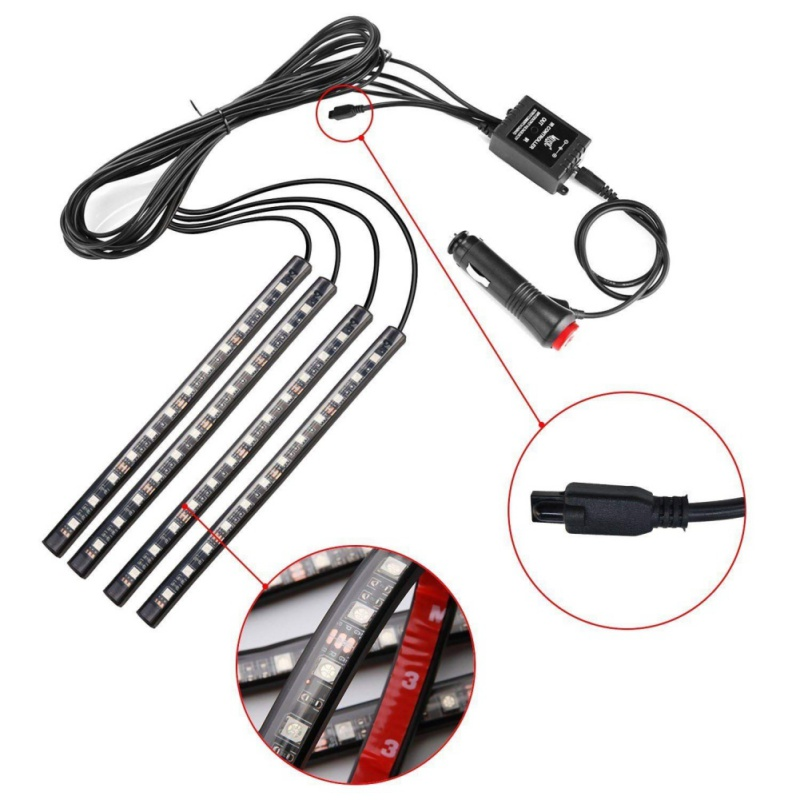4PCS 12V LED Dash Pilot Panel Lamp Indicator Warning Light Car 5mmx7mm Set Kit