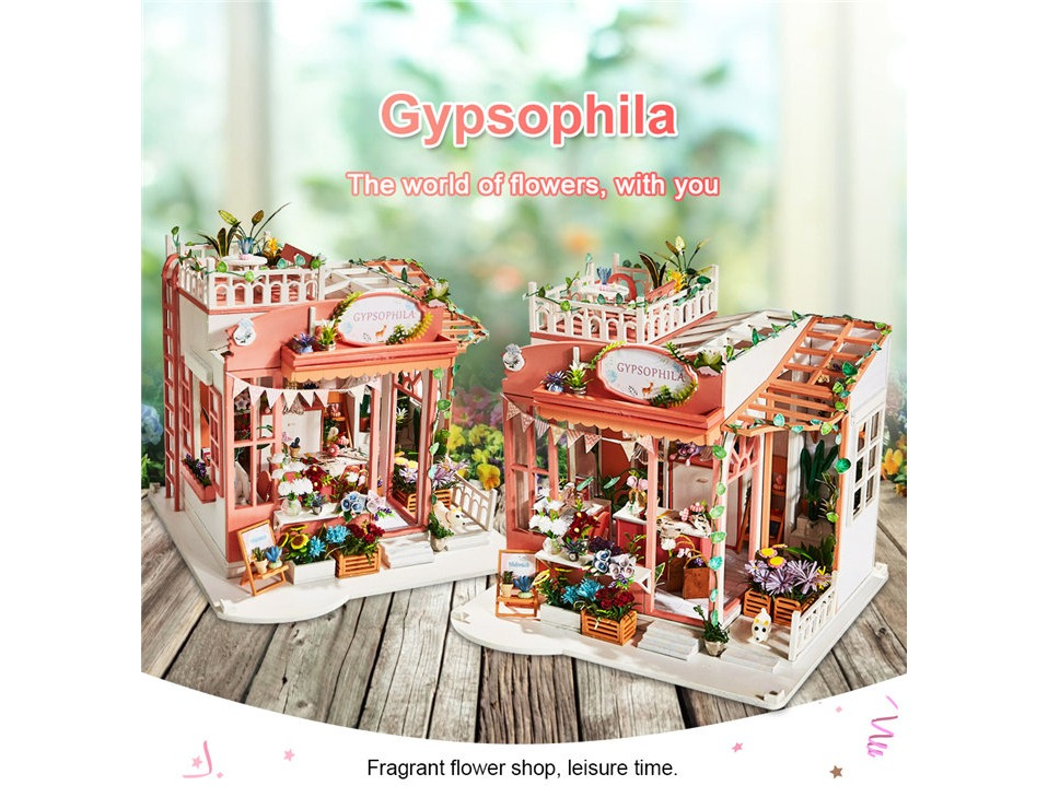 Gypsophila DIY 3D Dollhouse