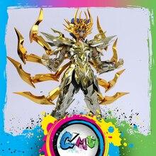 Stokta GreatToys EX kanser Deathmask aziz Seiya metal zırh efsane bez altın Ex aksiyon figürü