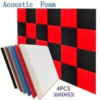 Espuma acústica e acústica de 7 cores  tratamento de absorção de som com painel plano  esponja protetora de cunha