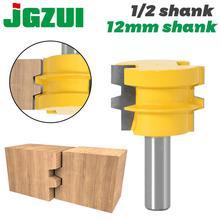 """1 adet tutkal ortak yönlendirici Bit orta geri dönüşümlü ağaç İşleme keski kesici aracı 1/2 """"12mm Shank Tenon kesici için ağaç İşleme araçları"""