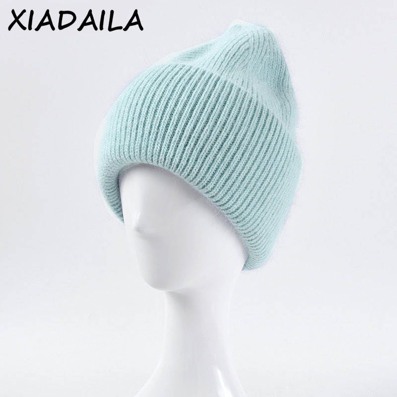 Winter Hat Cover Head-Cap Warm Beanie Real-Rabbit-Fur Adult Fashion Solid for Women Hot-Selling