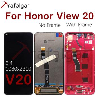 Wyświetlacz Trafalgar dla Huawei Honor View 20 wyświetlacz LCD V20 PCT-L29 ekran dotykowy dla Honor View 20 wyświetlacz z wymianą ramki tanie i dobre opinie NONE CN (pochodzenie) Pojemnościowy ekran 2160*1080 3 For Huawei Honor View 20 V20 PCT-L29 PCT-AL10 LCD i ekran dotykowy Digitizer