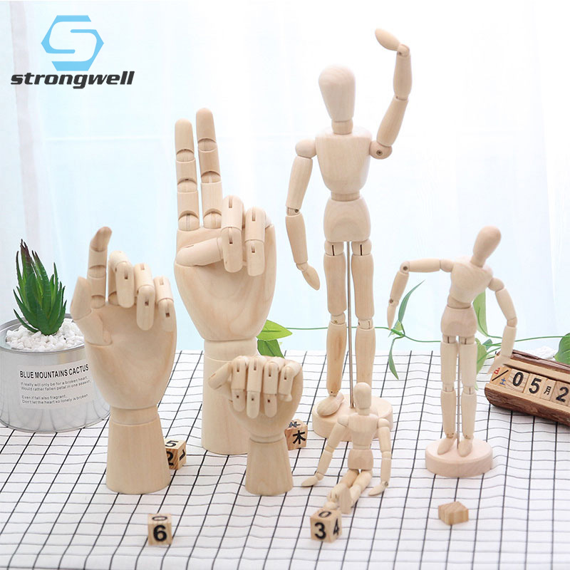 Strongwell Wood Figure Model Drawing Figures Doll Artists Set Action Draw Home Decoration Accessories Gift Desktop Toys